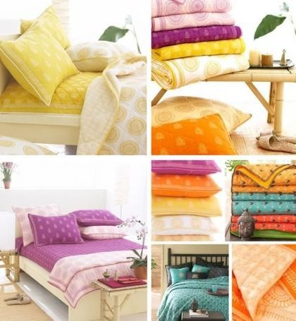 Ropa de cama en colores frescos para invierno