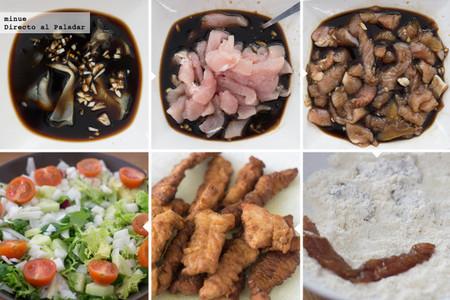 Ensalada de pavo al estilo japonés - elaboración
