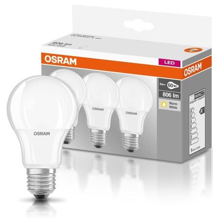 Pack de 3 bombillas LED Osram de 9,5W (equivalente a 60W) por 7,99 euros