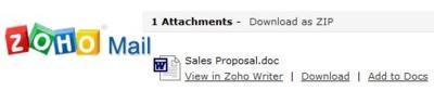 Zoho mejora la gestión de los adjuntos en su correo