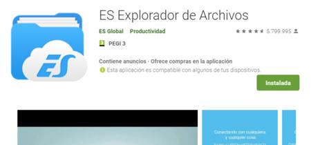ES File Explorer permite que otros usuarios puedan acceder a los archivos de tu móvil si estáis en la misma red