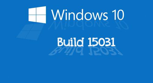 Llega la Build 15031 al anillo rápido de PC para los usuarios del Programa Insider