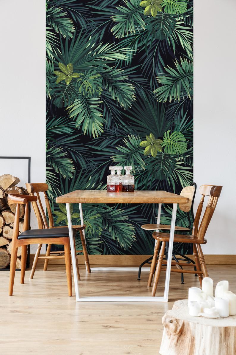 Monster Leaves Removable Wallpaper