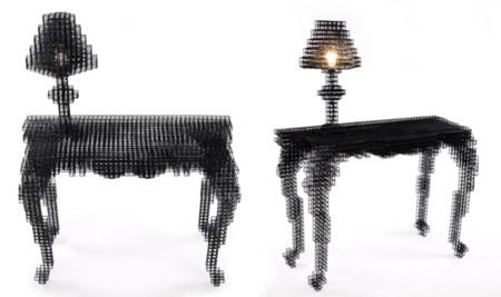 Afterimage por Bomi Park: la colección de muebles borrosos