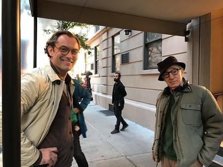 Jude Law y Woody Allen en el rodaje