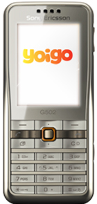 Sony Ericsson G502 con Yoigo