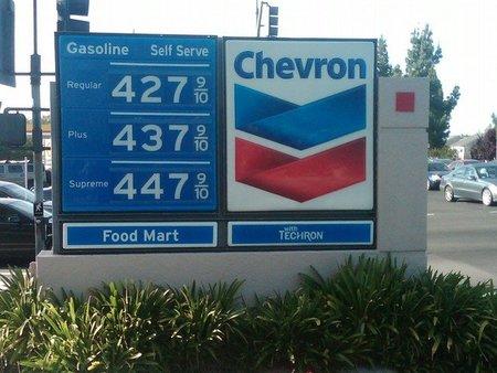 Estados Unidos vuelve a los temidos 4 dólares/galón