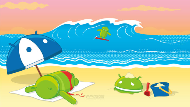 061914 Android-OS Beachday Wallpaper