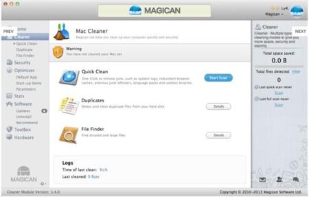 Magican, un programa de mantenimiento todo en uno para OS X