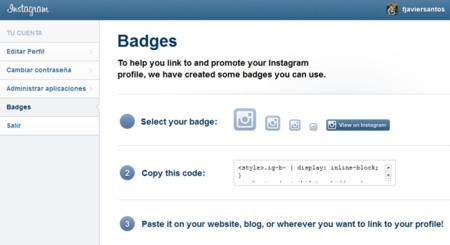 Instagram incorpora sus propios badges para difundir nuestros perfiles