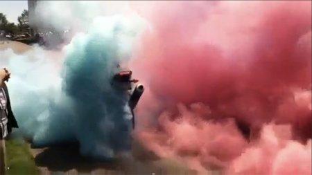Shinko Smoke Bomb, la guinda del pastel para la fiesta de un Gran Premio