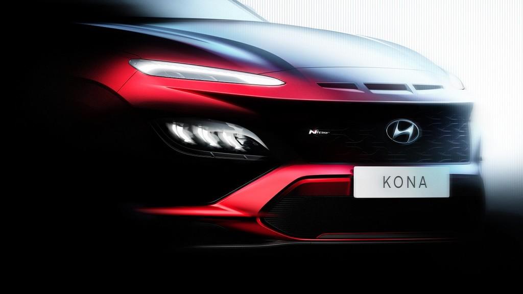 El Hyundai KONA 2021 se asoma en este primer teaser y promete llegar con una versión N Line
