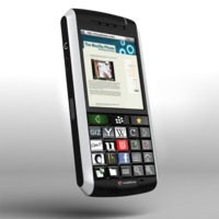 OLED BlackBerry junta a una BlackBerry con el Optimus Maximus