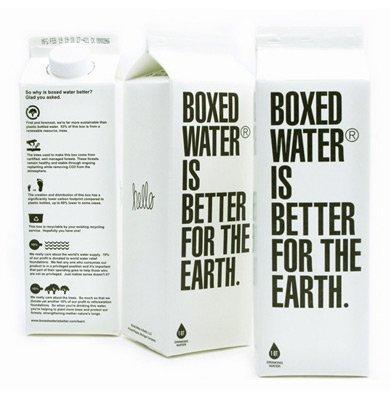 Boxed water, agua más respetuosa con el medio ambiente