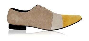 Más propuestas bicolor y tricolor de la mano (o del pie) de Ana Locking: zapatos