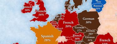 ¿Qué idiomas quieren aprender los europeos más allá del inglés? Este mapa lo ilustra