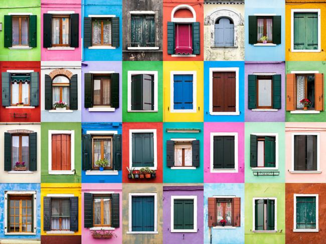 El fotógrafo Andre Vicente Goncalves crea fabulosos collages fotográficos con ventanas de distintos puntos de Europa