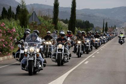 Reunión de Harley Davidson en Fuengirola