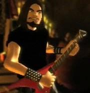 Guitarrista con barba de chivo