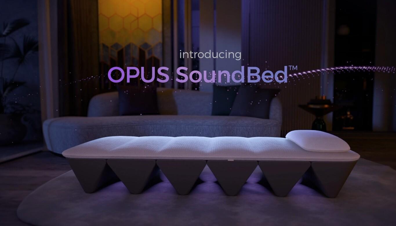Esta es Soundbed, una cama portátil con sistema de sonido por vibración 7.1 pensada para meditar y relajarte