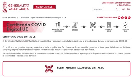 Certificado Valencia