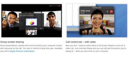 Skype 5.2. para Mac incorpora videollamadas grupales con posibilidad de compartir nuestra pantalla
