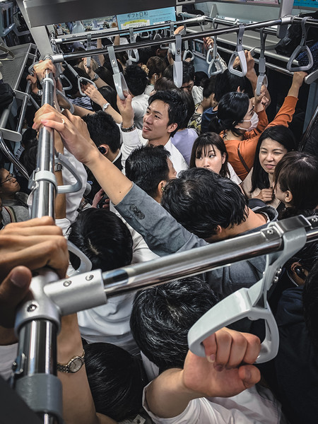 Peak Hour In Tokyo By Jeff Liang
