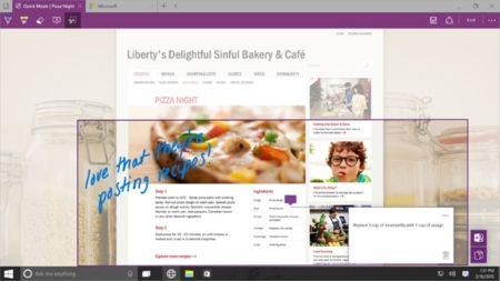Spartan Onenote Windows10