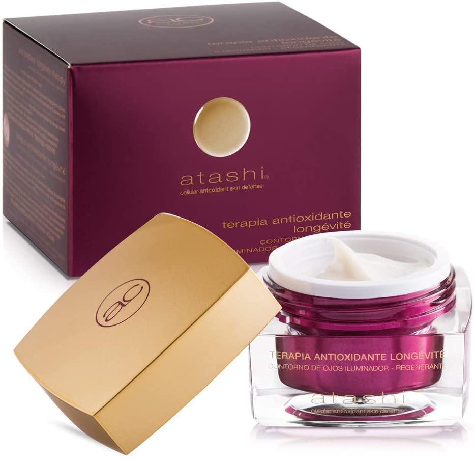 Atashi Antioxidante - Contorno de Ojos Iluminador Regenerante. Reduce líneas de Expresión, Bolsas y Ojeras