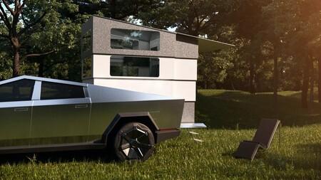 La Tesla Cybertruck ya puede convertirse en una cotizada autocaravana con cocina, baño 'spa' y dormitorio