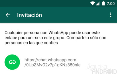 WhatsApp para Android ya permite usar enlaces para unirse a los grupos