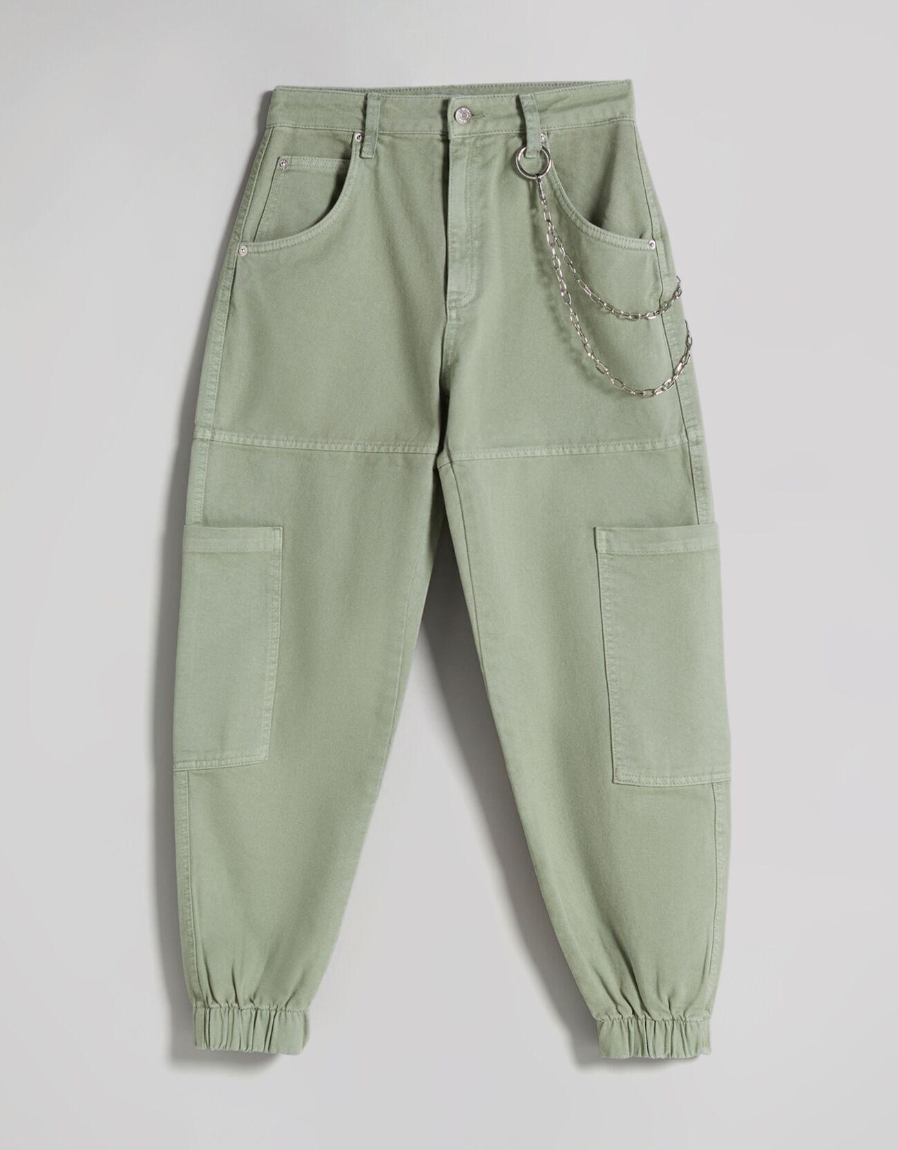 Pantalón jogger cargo algodón cadena.