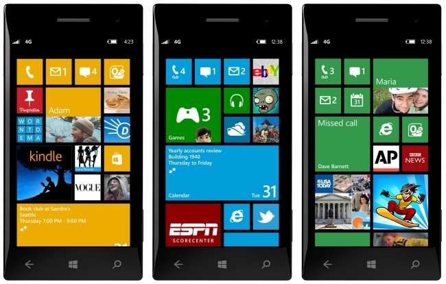 Nokia Windows Phone 8 pantallas