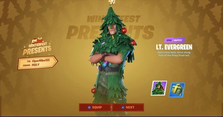 Guía Fortnite: cómo conseguir la skin del árbol de Navidad en los regalos del Festival de Invierno