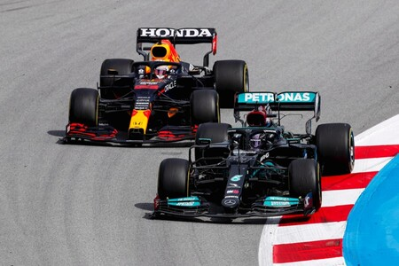 Hamilton Verstappen Espana F1 2021