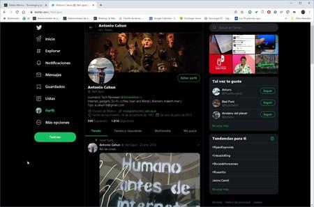 Chrome Web Modo Nocturno Noche