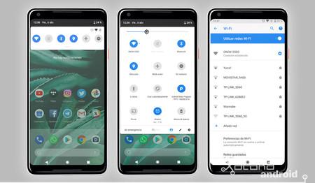 Android P menú de ajustes rápidos