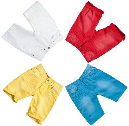 Pantalones cortos con mucho color en Zara