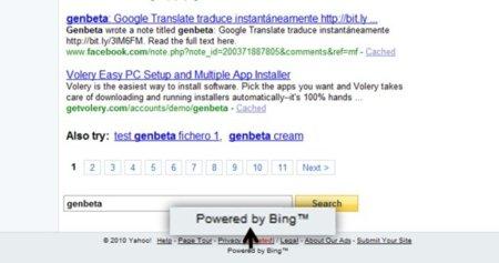 Yahoo empieza a mostar resultados de búsqueda provenientes de Bing