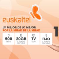 Euskaltel luce promoción con fibra a 500 Mbps, móvil con 20 GB y TV por 20 euros, pero no es low cost