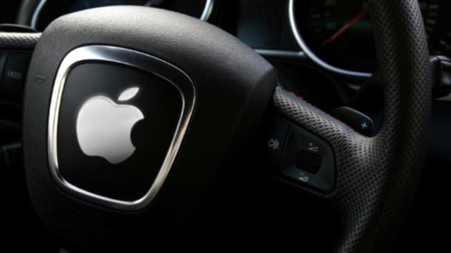 Apple Car Sign