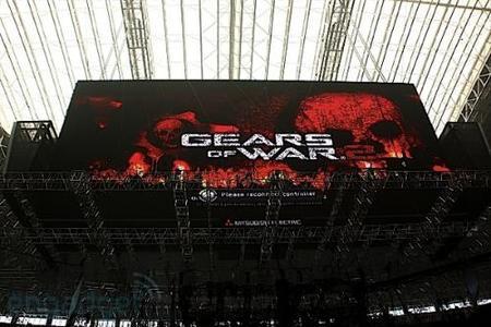 Jugando a la Xbox 360 en la pantalla LED gigante del estadio de los Dallas Cowboys