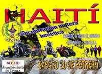 Concentración motera en Sevilla para ayudar en Haití