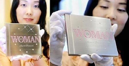 CD de platino con diamantes