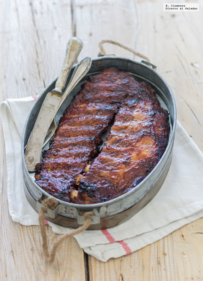 Costillas al horno con salsa barbacoa directo al paladar - Barbacoa con horno ...