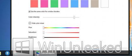 Configurando esquema de colores en Windows 8 no Aero