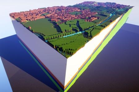 Estos mapas en Minecraft no son un juego: son geológicamente fieles a la realidad