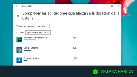Cómo saber qué aplicaciones están gastando tu batería en Windows 10