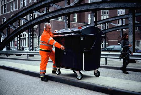 Trashcam Project: Hamburgo vista desde el contenedor de basura