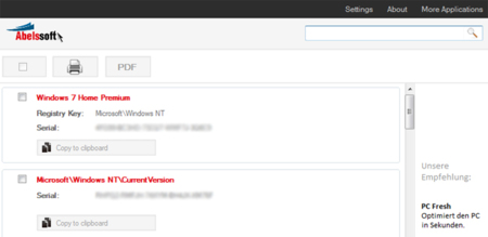 MyKeyFinder, una pequeña aplicación para Windows con la que recuperar nuestros números de serie